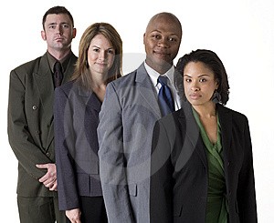 Confident Business Team Stock Image