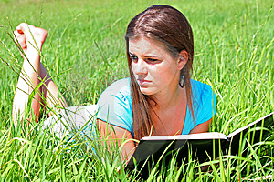 Summer Girl And A Book 19 Royalty Free Stock Photo - Image: 5657555