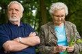 Elderly couple enjoying nature Stock Photography