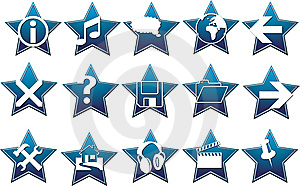 Blue Star Button Vector Royalty Free Stock Photos - Image: 5660698
