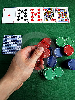 To Play A Card Royalty Free Stock Image - Image: 5662166