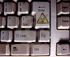 Radioactive Keyboard Stock Images - Image: 5662904