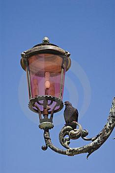 Lamppost On Piazza San Marco In Venice Royalty Free Stock Photos - Image: 5663868