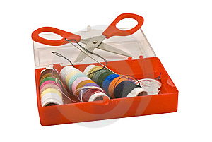 Sewing Kit Royalty Free Stock Photo - Image: 5664895