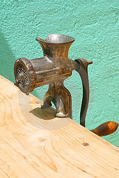 Antique Meat Grinder Royalty Free Stock Photo - Image: 5672955