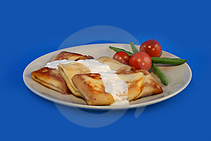 Pancakes With Sour Cream Stock Photos - Image: 5676563