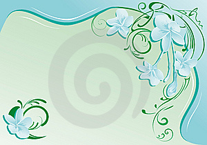 Background With Exotic Flowers Royalty Free Stock Photography - Image: 5680287