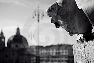 Piazza Popolo Royalty Free Stock Photos - Image: 5681348