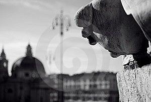 Piazza Popolo Photos libres de droits - Image: 5681348