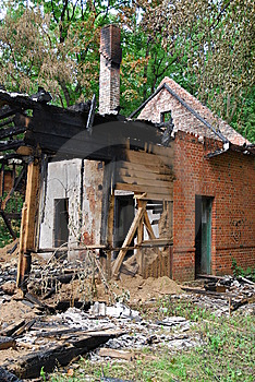 Burned Down House 3 Stock Images - Image: 5681504