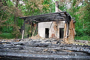 Burned Down House 1 Stock Photography - Image: 5681752