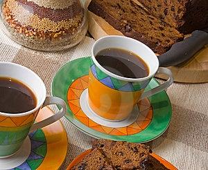 Coffee And Fruitcake Royalty Free Stock Photo - Image: 5683675