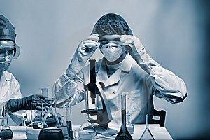 Lab work Royalty Free Stock Images