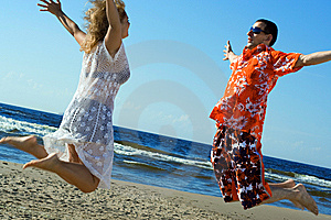 Love Jump. Royalty Free Stock Photo - Image: 5684855