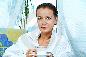 With Coffee Royalty Free Stock Photo - Image: 5685625