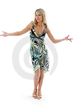 Beautiful Fashion Woman Dancing Stock Image - Image: 5688671