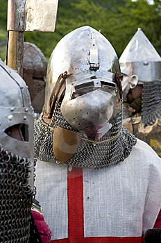 Teuton armoured knight or infantry Royalty Free Stock Photo
