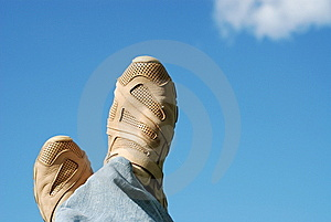 Foot And Sky Stock Photography - Image: 5690162