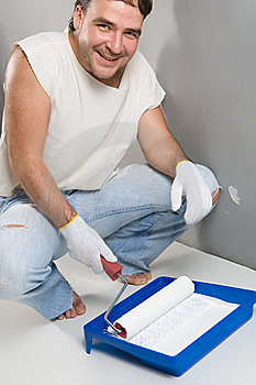 Painting A Wall Stock Images - Image: 5694094