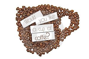 Would You Like A Cup Of Coffee Royalty Free Stock Photo - Image: 5696045