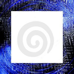 Blue Black Grunge Frame Royalty Free Stock Images - Image: 5697529