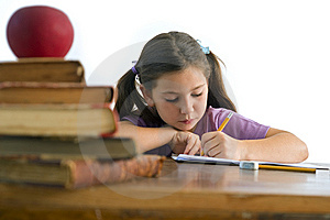 Girl Pupil Royalty Free Stock Image - Image: 5699196