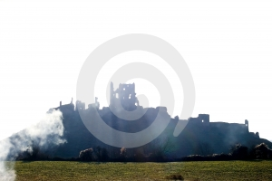 Corfe Castle, In Swanage, Dorset, Southern England Stock Photos - Image: 570823