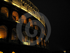 Colosseum In The Night Stock Image - Image: 5700731
