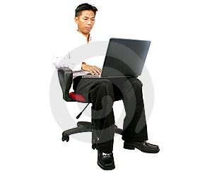 Men Using A Laptop Stock Photography - Image: 5701852