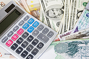 Different currencies and calculator