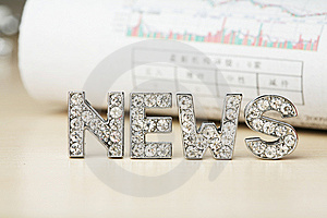 Text Of 'news' With Newspaper Free Stock Image