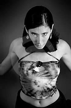 Woman With Intense Look Royalty Free Stock Photo - Image: 5708495
