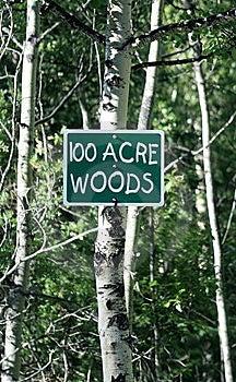 100 Het Teken Van Het Acrehout Stock Foto - Afbeelding: 5708990