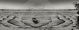 Rhythm Of Waves And Abandoned Boat Stock Photography - Image: 5715042