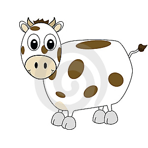 Cartoon cow 1 Stock Image