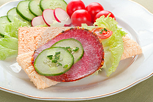 Dietetic Sandwich Stock Image - Image: 5725371