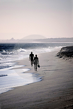 Two Lonely Figures Stock Image - Image: 5725991