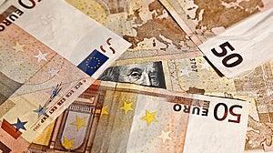 Franklin-Einfassung Mit Euros Lizenzfreie Stockfotos - Bild: 5728218
