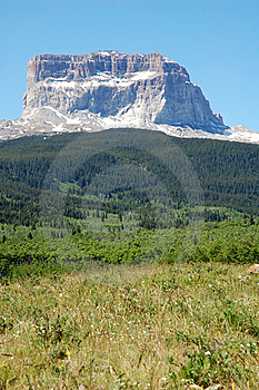 Glacier Mountian And Forests Stock Image - Image: 5728631