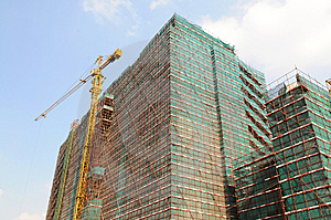 The Edifice Under Construction Stock Photo - Image: 5732190