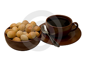 Cup Of Tea With Sea-biscuit Royalty Free Stock Photo - Image: 5732245