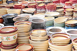 The Various Ceramic Pots Stock Images - Image: 5732394