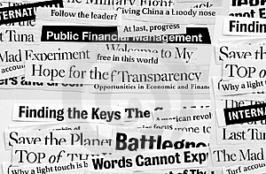 New paper headlines Royalty Free Stock Image