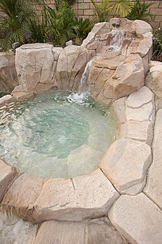Tropical Custom Pool Jacuzzi Royalty Free Stock Images - Image: 5740269