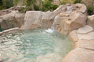 Tropical Custom Pool Jacuzzi Stock Photos - Image: 5740283