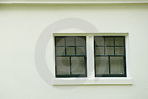 Window On Stucco Building Royalty Free Stock Photography - Image: 5741307