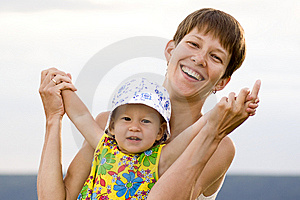 Happy Mother And Daughter Playing Together Stock Photography - Image: 5742222
