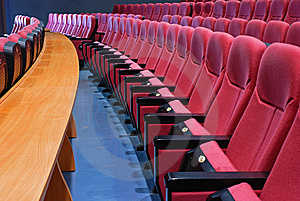 Empty cinema seats Stock Image
