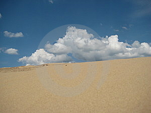 Desert With Clouds Stock Photo - Image: 5744000