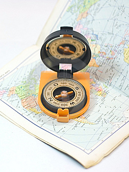 Compass And Card - Travel Concept Stock Photography - Image: 5751732